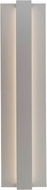 LBL OD785SILEDW Windfall Contemporary Silver LED Exterior Sconce Lighting
