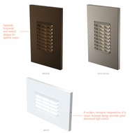 LBL ST93401 Louver Contemporary LED Exterior Step Light
