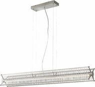LBL SU769MPLSCLED Questa Contemporary Satin Nickel LED Kitchen Island Light Fixture