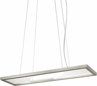 LBL SU830SCLED Vitre Contemporary Satin Nickel LED Island Light Fixture