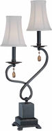 Lite Source C41150 Tovah Dark Bronze Finish 12.5  Wide Table Lamp Lighting