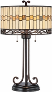 Lite Source C41154 Omora Tiffany Dark Bronze Finish 15  Wide Table Lamp