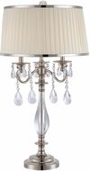 Lite Source C41310 Valentine Chrome Finish 33  Tall Table Lamp