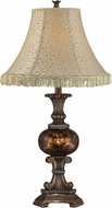 Lite Source C41332 Glenshire II Traditional Antique Bronze Finish 16  Wide Table Top Lamp