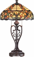 Lite Source C4667 Tryphena Tiffany Antique Bronze Finish 27  Tall Lighting Table Lamp