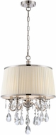 Lite Source C71310 Valentine Chrome Finish 154  Tall Pendant Light