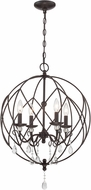 Lite Source C71355 Berne Antique Bronze Mini Chandelier Light