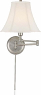 Lite Source C7501PS Charleston Polished Steel Finish 16.5  Tall Headboard Lamp