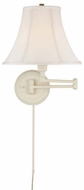 Lite Source C7501WHT Charleston White Finish 13  Wide Bedside Lamp