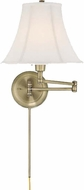 Lite Source CF7501AB Charleston Antique Brass Finish 16.5  Tall Bedside Lamp