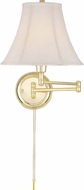 Lite Source CF7501PB Charleston Polished Brass Finish 16.5  Tall Bedside Lamp