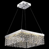 Lite Source EL-10122 Alecia II Chrome Finish 16  Wide LED Pendant Light Fixture