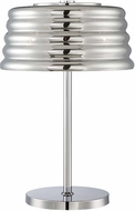 Lite Source EL-30135 Venice Modern Chrome Finish 24  Tall Side Table Lamp