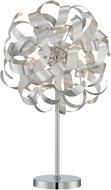 Lite Source EL-30136 Maclean Contemporary Chrome Halogen Lighting Table Lamp