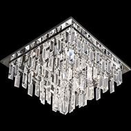 Lite Source EL-50115 Helanie Chrome Finish 16  Wide Halogen Ceiling Light Fixture