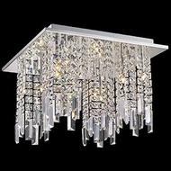 Lite Source EL-50116 Helanie Chrome Finish 11  Tall Halogen Ceiling Lighting Fixture
