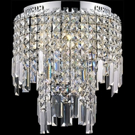 Lite Source EL-50127 Helanie Chrome Finish 14  Wide Halogen Ceiling Light Fixture