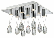 Lite Source EL-50131 Jacquelyne Chrome Finish 16  Wide LED Ceiling Light