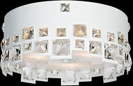 Lite Source EL-50133 Isabella White Finish 6  Tall Halogen Ceiling Light Fixture