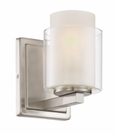 Lite Source LS-16321 Eliseo Contemporary Polished Steel Wall Lamp