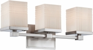 Lite Source LS-16343 Benicio Contemporary Chrome 3-Light Bathroom Lighting Fixture
