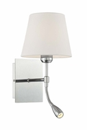 Lite Source LS-16588 Mitali Modern Chrome Bedside Lamp with LED Reading Light