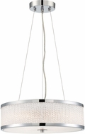 Lite Source LS-18575 Chrome Drum Hanging Pendant Lighting