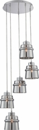 Lite Source LS-19145 Sparta Modern Chrome Finish 68  Tall Multi Hanging Light