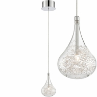 Lite Source LS-19171 Glenna Contemporary Chrome Halogen Mini Pendant Lighting