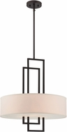 Lite Source LS-19524 Adalyn Modern Dark Bronze Drum Pendant Lamp