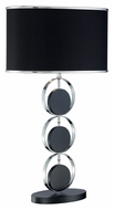 Lite Source LS-21739 Averie Black Wood Body & Base, Chrome Table Top Lamp
