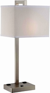 Lite Source LS-22283 Contento Contemporary Polished Steel Finish 27  Tall Table Lamp