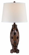 Lite Source LS-22297 Norah Modern Dark Walnut Finish 30.5  Tall Table Top Lamp