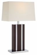 Lite Source LS-22322 Earvin Dark Walnut 26.5  Tall Lighting Table Lamp