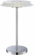 Lite Source LS-22368 Zsoka Contemporary Chrome Finish 12  Wide LED Table Lamp