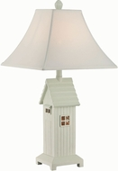 Lite Source LS-22423 Lodge Brushed Antique White Table Lamp