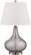 Lite Source LS-22445SMOKE Dillian Contemporary Chrome Finish 15  Wide Table Lamp