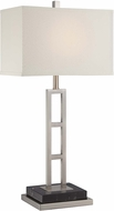 Lite Source LS-22457 Lexine Modern Polished Steel Finish 14  Wide Table Lighting