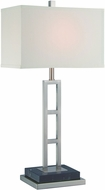 Lite Source LS-22457 Lexine Contemporary Polished Steel Fluorescent Table Top Lamp