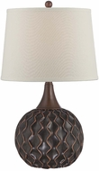 Lite Source LS-22460 Belita Dark Bronze Finish 24  Tall Table Top Lamp