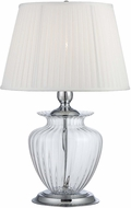 Lite Source LS-22468CLR Tyson Clear Glass 28  Tall Table Light