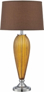 Lite Source LS-22470TAWNY Mekelle Tawny Glass 31.5  Tall Lighting Table Lamp