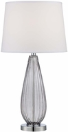 Lite Source LS-22471SMOKE Laurien Smoke Glass 15  Wide Table Lamp Lighting
