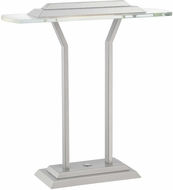 Lite Source LS-22479 Slate Contemporary Silver Finish 15 Tall LED Lighting Table Lamp