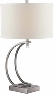 Lite Source LS-22525G Fico Contemporary Gun Metal Finish 28  Tall Table Lamp Lighting