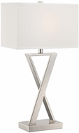 Lite Source LS-22571 Alexis Contemporary Chrome Finish 15  Wide Table Light