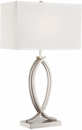 Lite Source LS-22573 Olympia Modern Polished Steel Finish 28  Tall Table Lighting