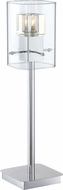 Lite Source LS-22586 Aida Chrome Finish 5.5  Wide Halogen Lighting Table Lamp