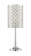 Lite Source LS-22641 Tosca Contemporary Chrome Table Light