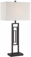 Lite Source LS-22652 Bronx Contemporary Dark Bronze Table Top Lamp